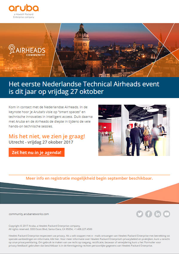 Aankondiging Technical Airheads Event